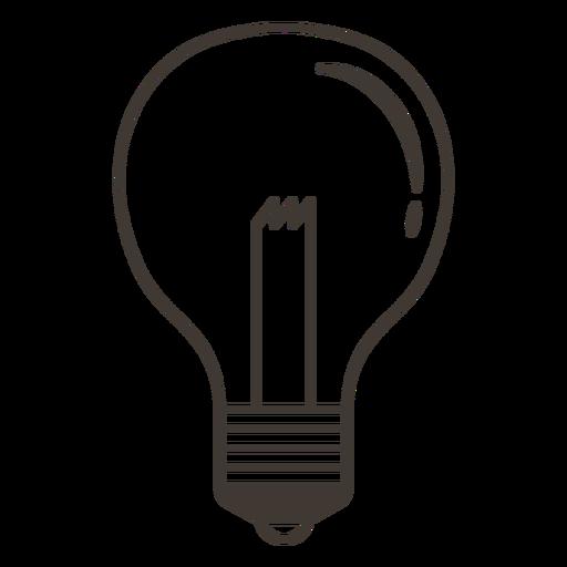 Icono de trazo de bombilla clásica Transparent PNG