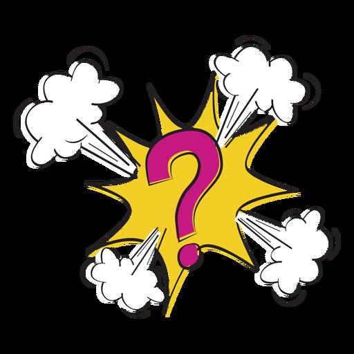 Dibujos animados de signo de interrogación cómico