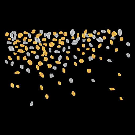 Fundo de ilustração de confete Transparent PNG