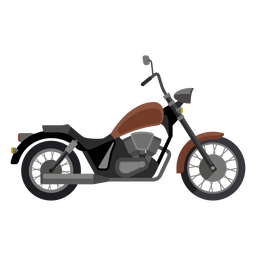 Icono de motocicleta de crucero
