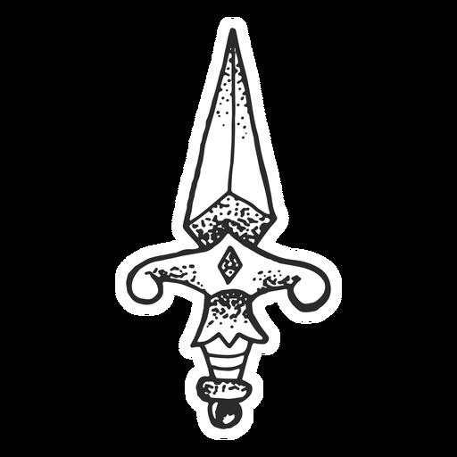 Dagger vintage tattoo , Transparent PNG \u0026 SVG vector file
