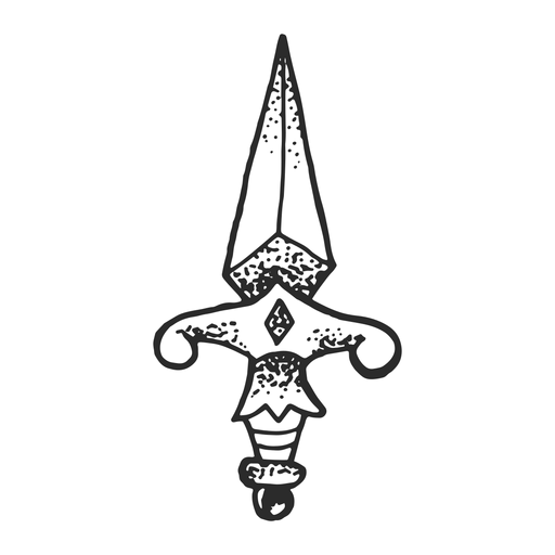 Dagger vintage tattoo