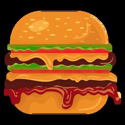 Ícone duplo hambúrguer