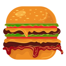 Icono de hamburguesa doble