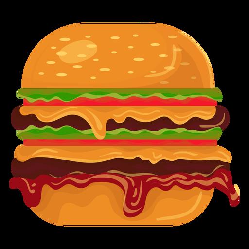 Icono de doble hamburguesa Transparent PNG
