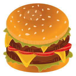 Double cheeseburger icon