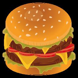 Icono de hamburguesa doble con queso