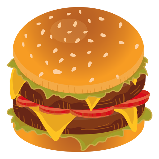 Double cheeseburger icon Transparent PNG