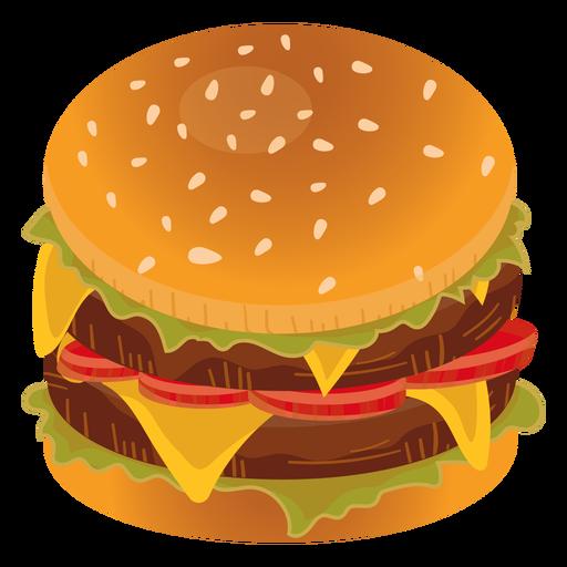 Icono de doble hamburguesa con queso Transparent PNG
