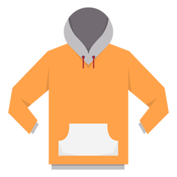 Langarm Hoodie Strich Symbol Transparenter PNG und SVG Vektor