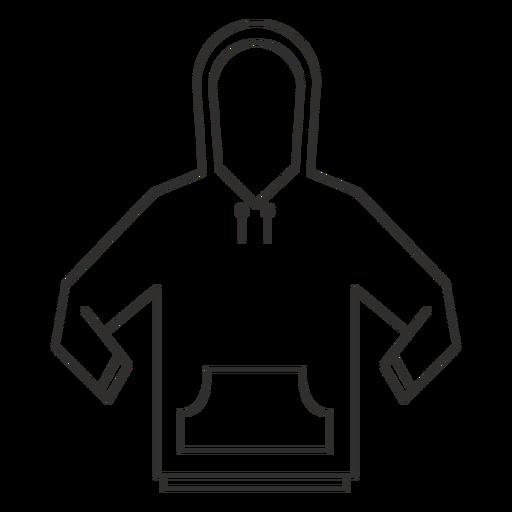 Drawstring hoodie stroke icon Transparent PNG
