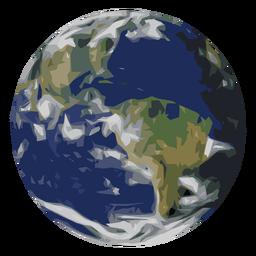 Erdplaneten-Symbol