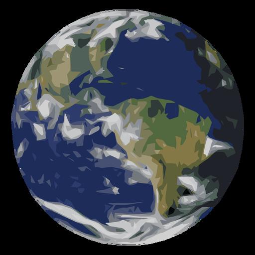 Icono de planeta tierra Transparent PNG