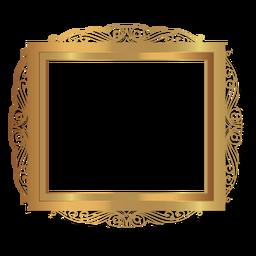 Elegant glossy golden frame