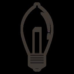 Bombilla elipsoidal icono de trazo