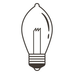 Ellipsoidal light bulb stroke icon