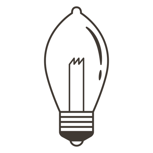 Bombilla elipsoidal icono de trazo Transparent PNG