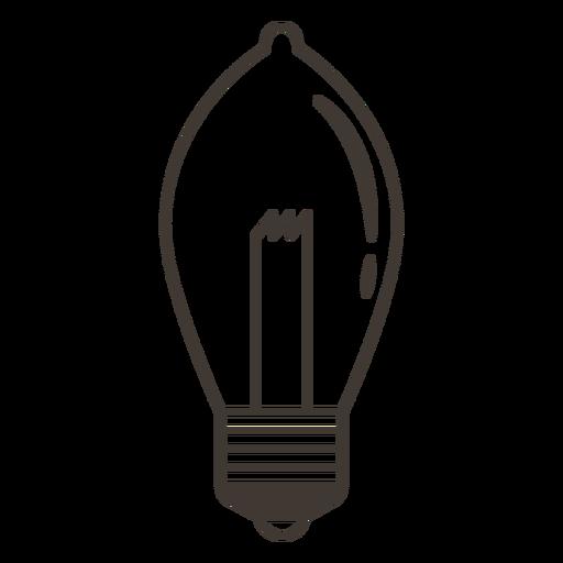 Ellipsoidal light bulb stroke icon