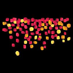Confetes de festa caindo