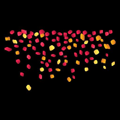 Confetes de festa caindo Transparent PNG