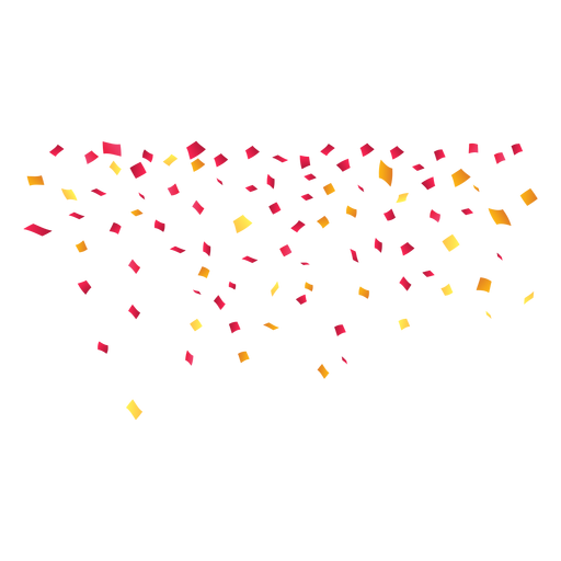Falling Party Confetti Transparent PNG