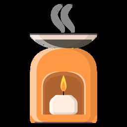 Flache Kerze-Symbol