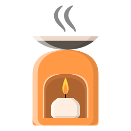 Flat candle icon