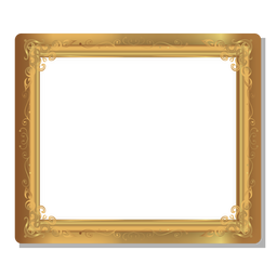 Floral swirls golden frame