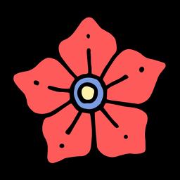 Tatuagem de cabeça de flor vintage