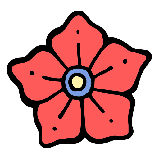 Tatuagem de cabeça de flor vintage Transparent PNG