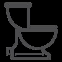 Flush toilet stroke icon