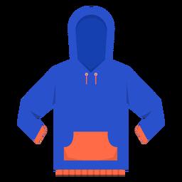 Icono de bolsillo con capucha frontal