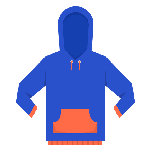 Front pocket hoodie icon