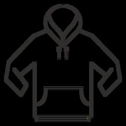 Ícone de traçado de capuz bolso frontal