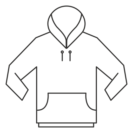 Front pocket hoodie stroke icon Transparent PNG