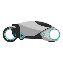Futuristic motorcycle icon