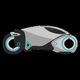 Icono de motocicleta futurista