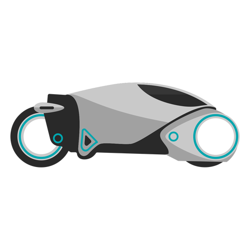 Futuristic motorcycle icon Transparent PNG