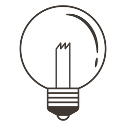 Globo bombilla icono de trazo
