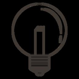 Ícone de traçado de lâmpada de globo