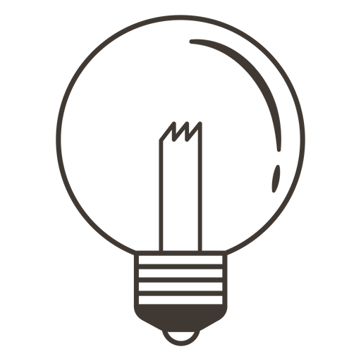 Ícone de traçado de lâmpada de globo Transparent PNG