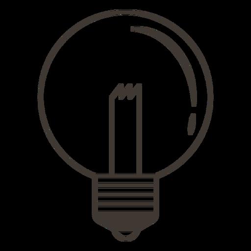 Icono de trazo de bombilla de globo Transparent PNG