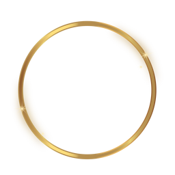 Glossy circle golden frame