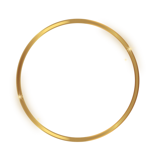 Glossy circle golden frame Transparent PNG