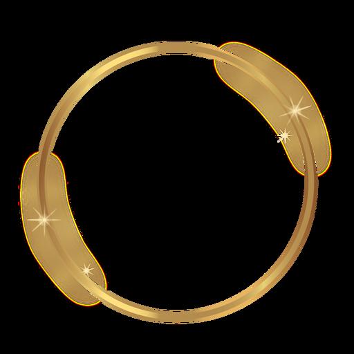Marco dorado brillante círculo Transparent PNG