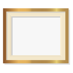 Glossy decorative golden frame