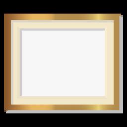 Moldura dourada decorativa brilhante