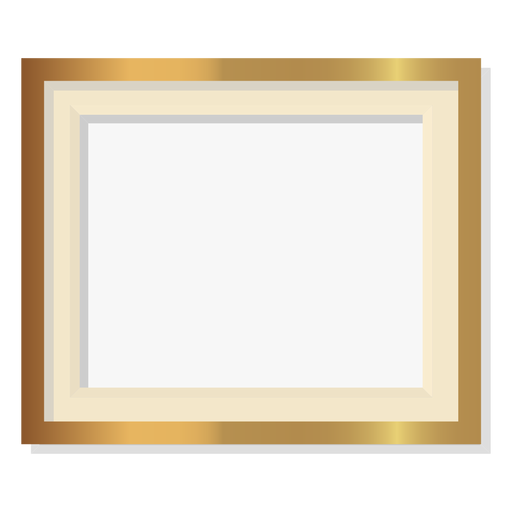 Glossy decorative golden frame Transparent PNG