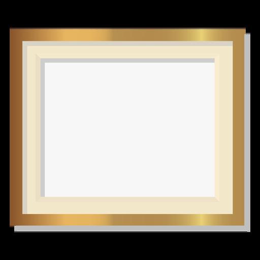 Marco dorado decorativo brillante Transparent PNG