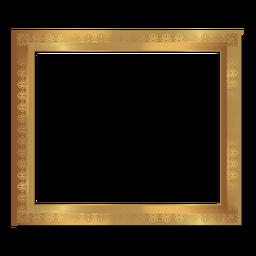 Glänzender floraler goldener Rahmen
